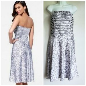 NEW Cache Strapless Snake Print Party Dress 14